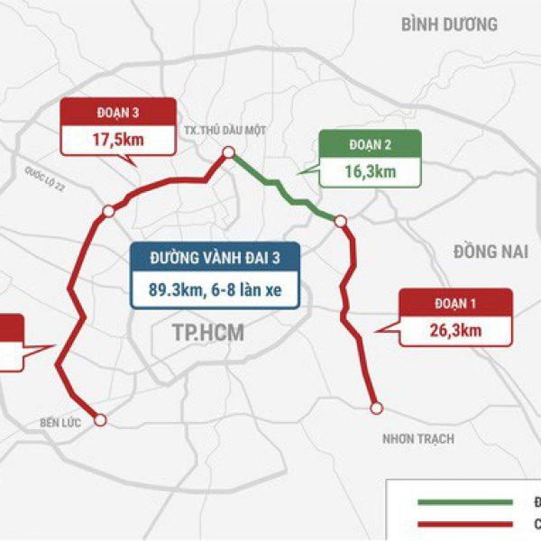 Thông tin vành đai 3: TpHCM sẽ là đường cao tốc