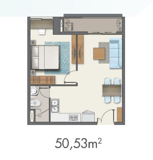 mẫu căn hộ q7 boulevard 1pn