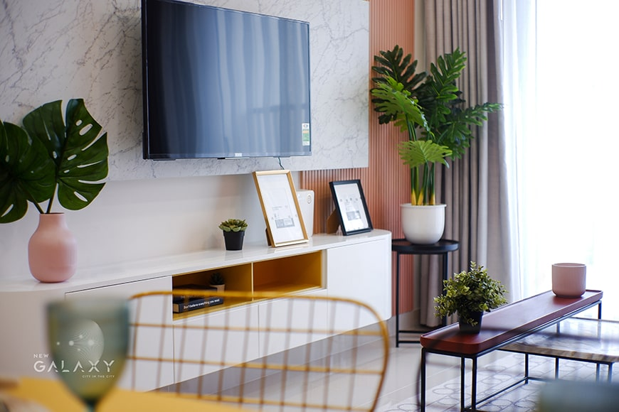 Phòng khách New Galaxy căn hộ 1PN