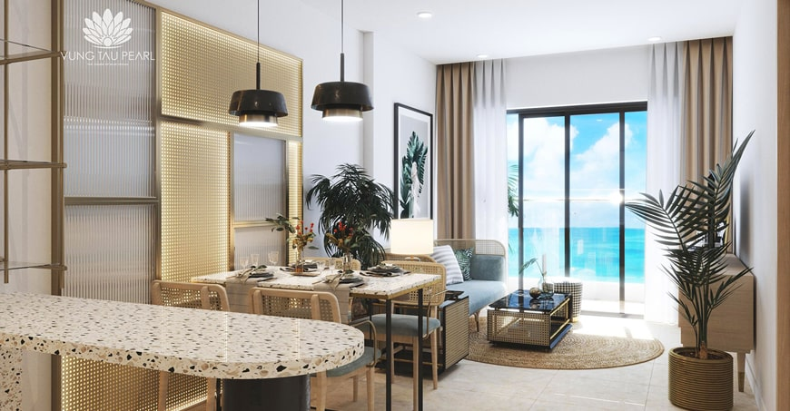 Phòng khách căn hộ du lịch Hưng Thịnh