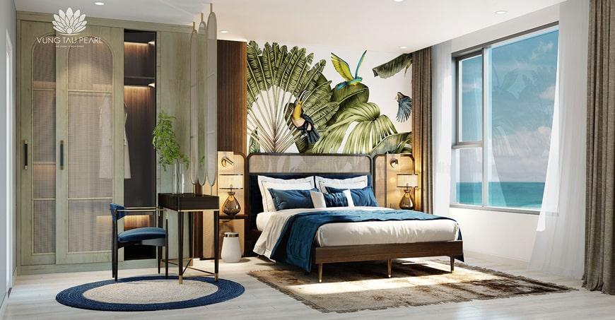 Phòng ngủ căn hộ du lịch Hưng Thịnh
