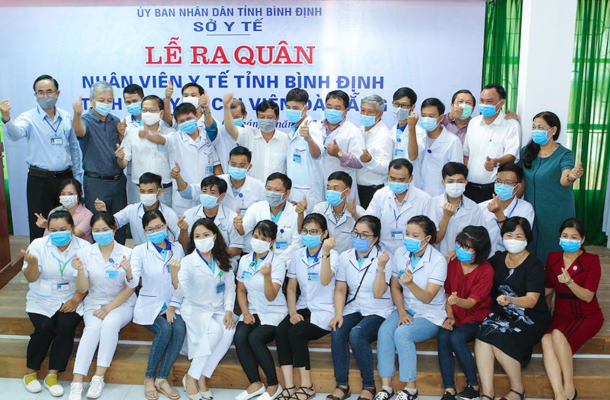 Đoàn y tế Bình Định hỗ trợ Tp Đà Nẵng chống dịch Covid 19