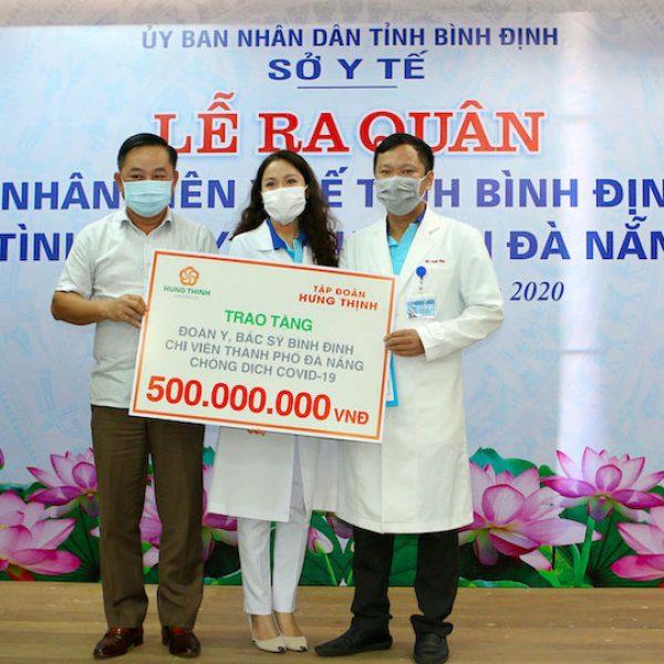 Hỗ trợ 500 triệu cho Y, Bác sĩ Bình Định chi viện Đà Nẵng chống Covid 19