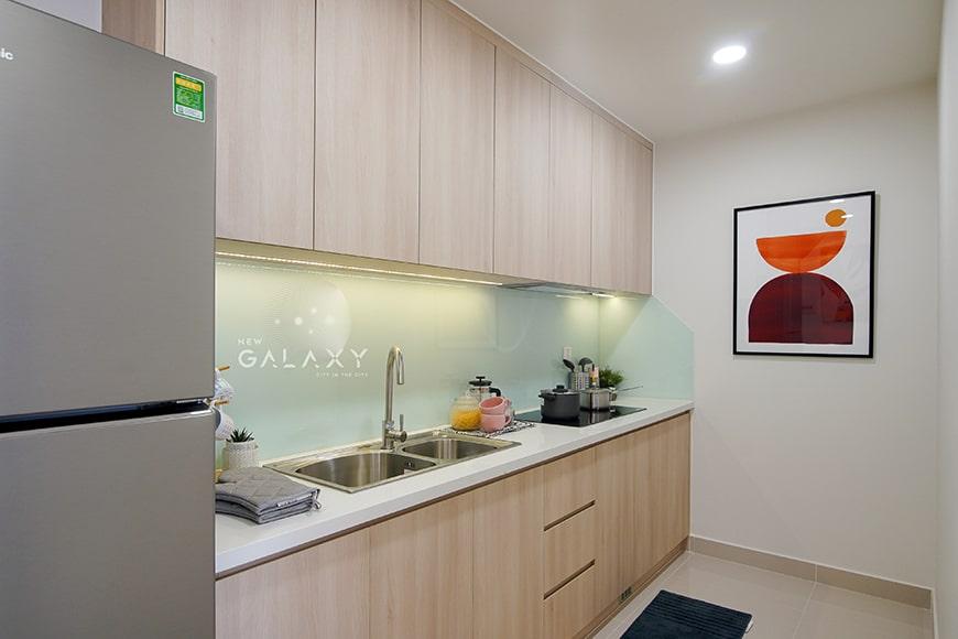 Phòng bếp căn hộ 1PN New Galaxy