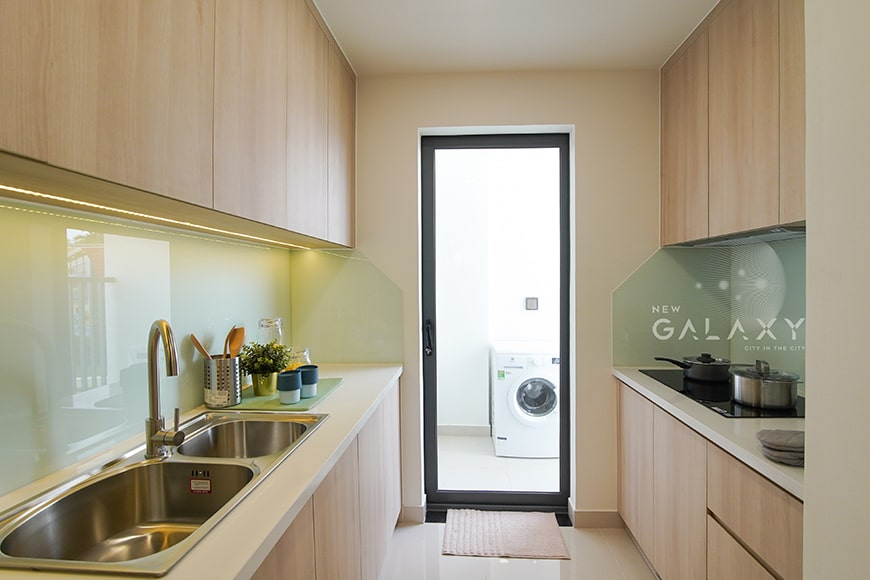 Phòng bếp căn hộ New Galaxy