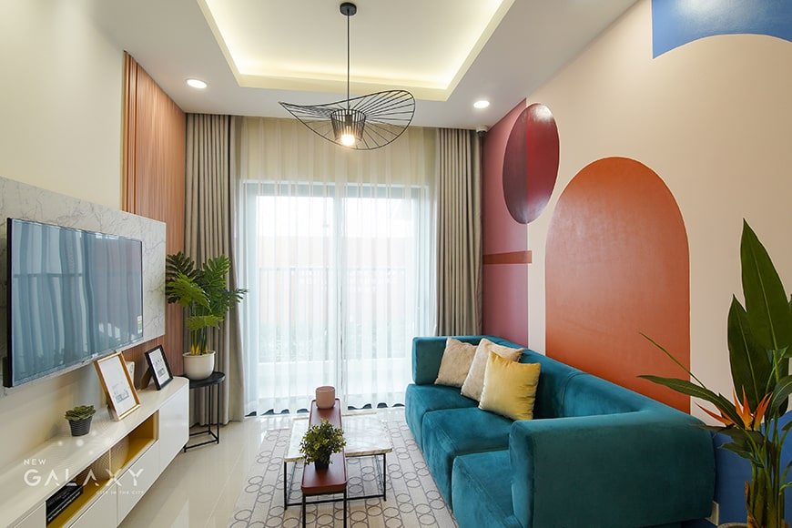 Phòng khách căn 1PN New Galaxy