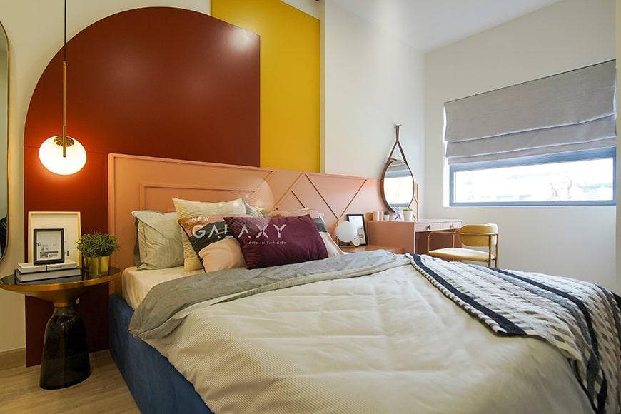 Phòng ngủ căn hộ 1PN dự án New Galaxy