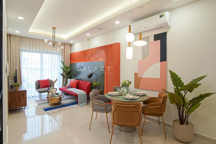 Thiết kế phòng khách căn hộ New Galaxy