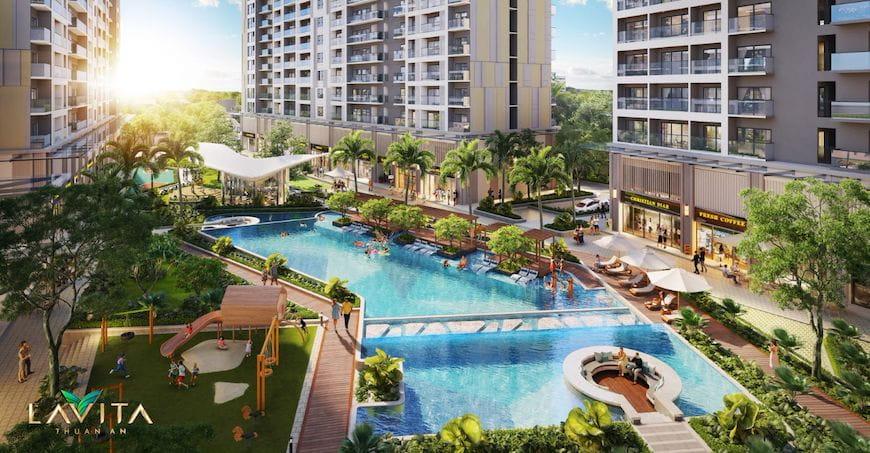 Lavita Thuan An tạo ấn tượng với mảng xanh rộng khắp và chuỗi tiện ích tiêu chuẩn 5 sao
