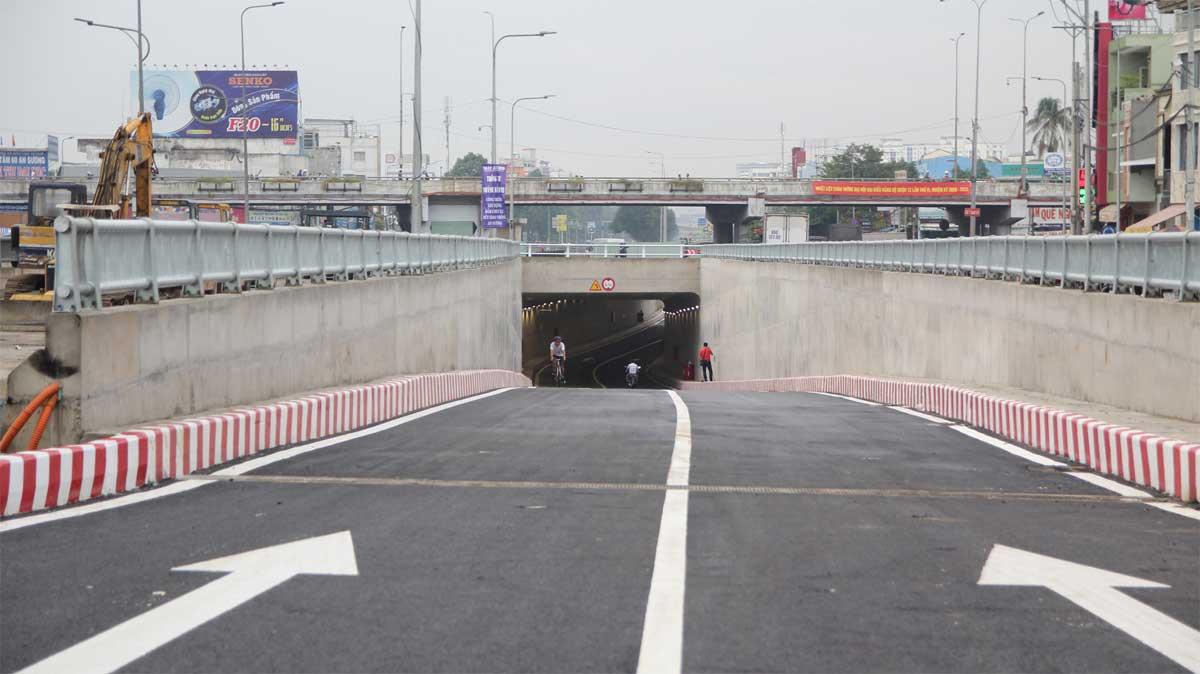 chinh thuc thong xe ham chui n2 an suong - Hầm chui An Sương chính thức thông xe đòn bẩy cho thị trường địa ốc quận 12