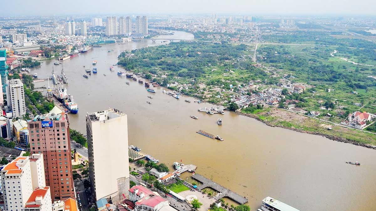 hinh anh bo song sai gon tai khu vuc quan 1 - Dự án đường đại lộ ven sông Sài Gòn