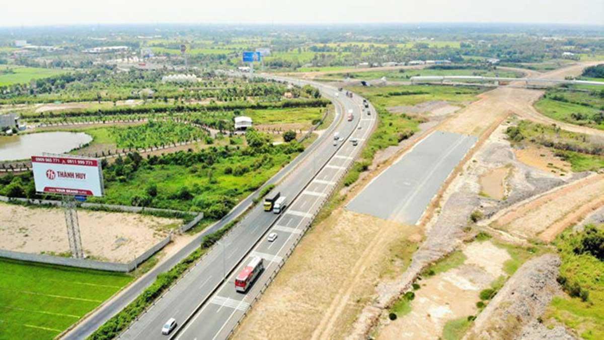 Cao tốc Trung Lương Mỹ Thuận nối với cao tốc Mỹ Thuận Cần Thơ đang triển khai theo hình thức BOT - Đường Cao tốc Mỹ Thuận Cần Thơ chính thức khởi công tháng 12/2020