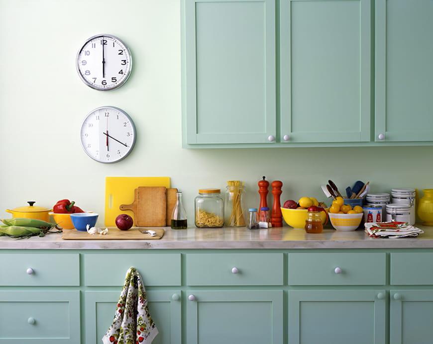 tủ bếp sơn