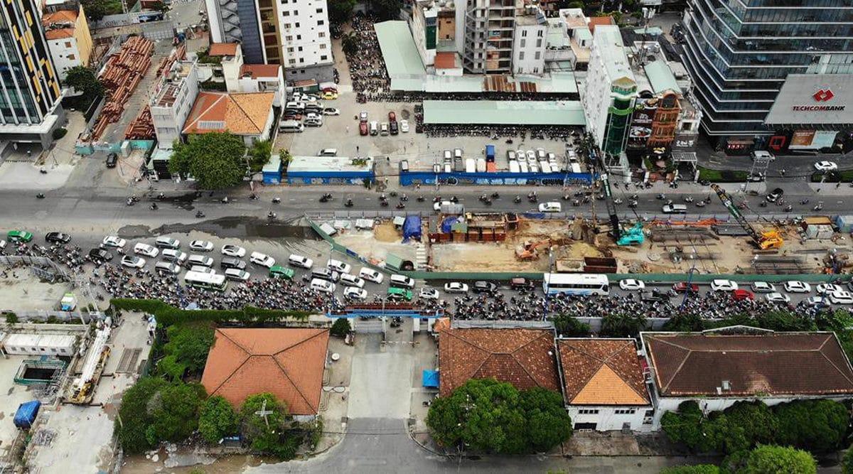 Nút giao Tôn Đức Thắng Đinh Tiên Hoàng Nguyễn Hữu Cảnh đang trong tình trạng quá tải - Cập nhật Tiến độ Thi công Cầu Thủ Thiêm 2 mới Nhất năm 2021