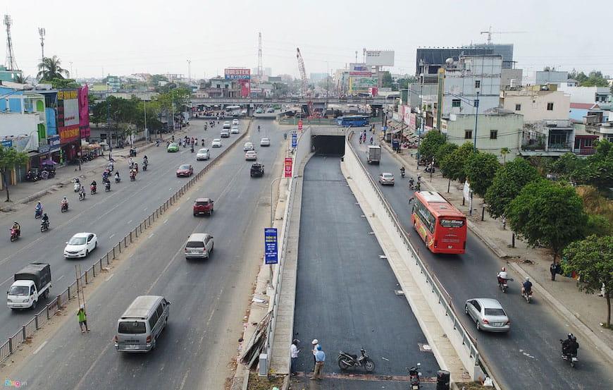 Quốc lộ 1 từ nút giao thông Trạm 2 đến nút giao thông An Lạc thuộc vành đai 3 - TIẾN ĐỘ THI CÔNG XÂY DỰNG ĐƯỜNG VÀNH ĐAI 3 TP.HCM MỚI NHẤT