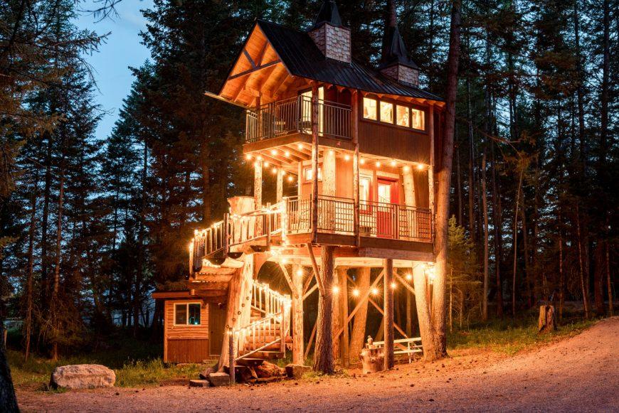 Ngôi nhà trên cây đầy phong cách này là cuộc sống xa hoa sang trọng