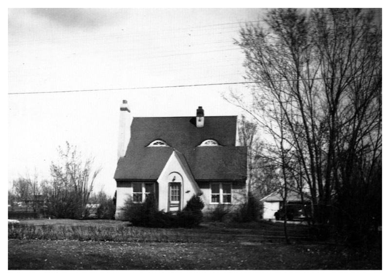 bức ảnh đen trắng về ngôi nhà lịch sử
