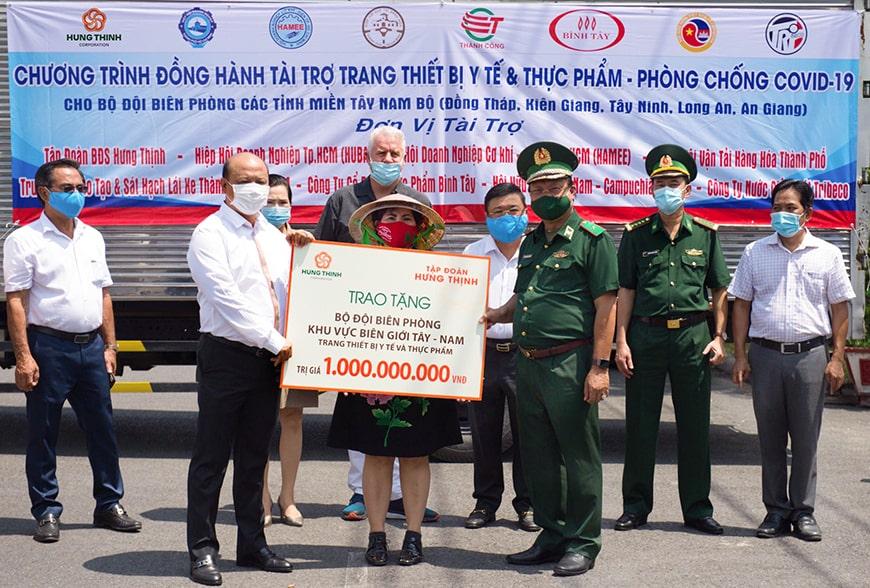 Tập đoàn Hưng Thịnh tài trợ 1 tỷ đồng cho Bộ đội Biên phòng phục vụ công tác phòng, chống dịch Covid-19