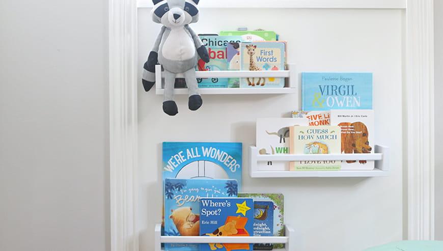Một cách tự làm nhanh chóng để tiết kiệm không gian trong phòng cho trẻ em