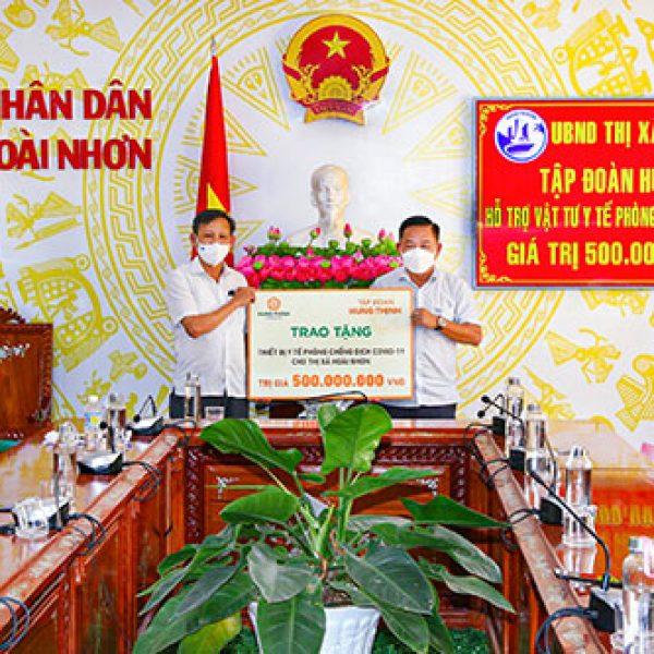 Tiếp sức thị xã Hoài Nhơn, tỉnh Bình Định phòng, chống dịch Covid-19