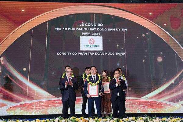Tập Đoàn Hưng Thịnh lần thứ 3 có mặt trong Top 10 Chủ đầu tư Bất động sản uy tín