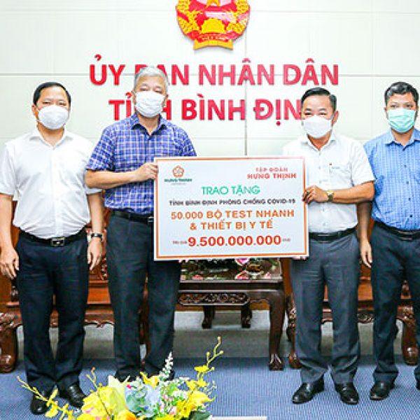 Tập đoàn Hưng Thịnh tiếp tục đồng hành cùng tỉnh Bình Định trong công tác phòng, chống dịch Covid-19 – Tập đoàn Hưng Thịnh