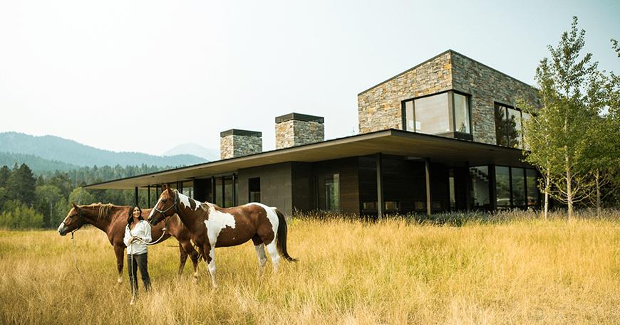 Đưa một ngôi nhà hiện đại lên bản đồ trong vùng hoang dã của Wyoming
