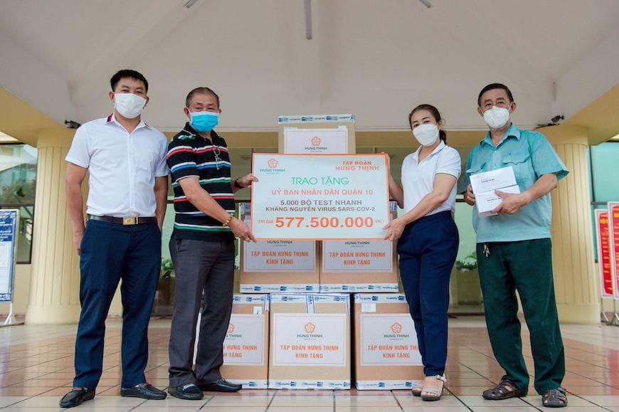 Tập đoàn Hưng Thịnh chi gần 9 tỷ đồng sát cánh cùng TP.HCM phòng, chống dịch