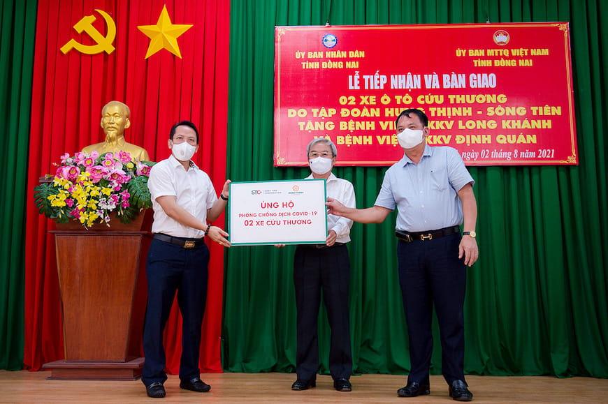 Tập đoàn Hưng Thịnh hỗ trợ gần nhiều tỉnh, thành chống dịch Covid-19