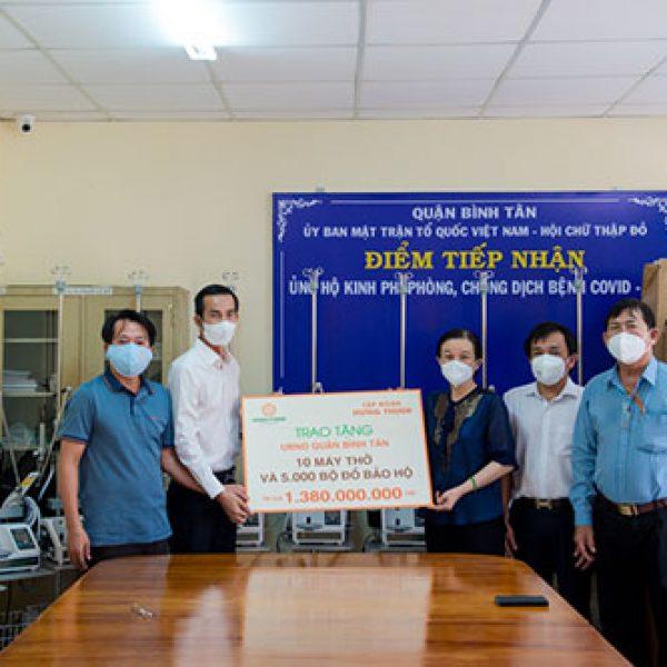 Tập đoàn Hưng Thịnh tiếp tục ủng hộ gần 9 tỷ đồng đồng hành cùng TP.HCM phòng, chống dịch Covid-19 – Tập đoàn Hưng Thịnh