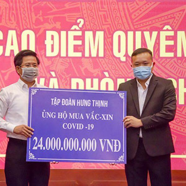 Tập đoàn Hưng Thịnh trao tặng gần 30 tỷ đồng cho Quỹ phòng, chống dịch Covid-19 tại tỉnh Bà Rịa – Vũng Tàu và Lâm Đồng – Tập đoàn Hưng Thịnh