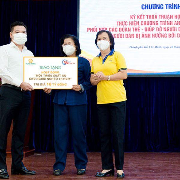 Tập đoàn Hưng Thịnh tiếp tục góp 10 tỷ đồng hỗ trợ triệu suất ăn cho người nghèo – Tập đoàn Hưng Thịnh