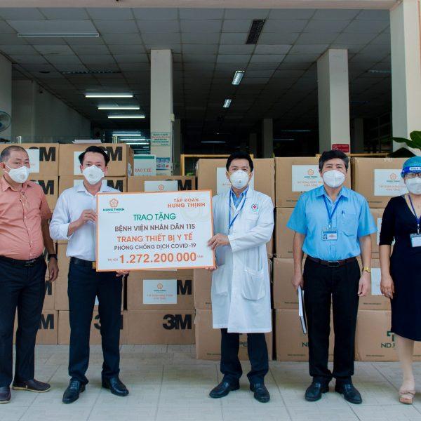 Tập đoàn Hưng Thịnh hỗ trợ trang thiết bị y tế với kinh phí gần 2 tỷ đồng cho Bệnh viện Nhân Dân 115 và Gia Định – Tập đoàn Hưng Thịnh